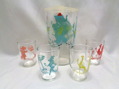 Vtg 50's 5 Pc  Barware Cocktail Set- After Five- Elephant Plus