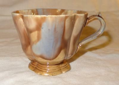Unusual 19th Century French Porcelain Marbled Cup