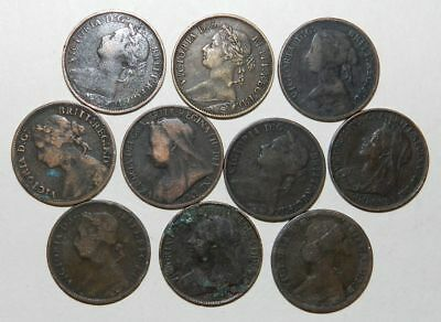 10 X Queen Victoria Farthings