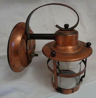 Mission, Craftsmen Arts & Crafts, Small Wall Light Fixture, Copper, Push Button