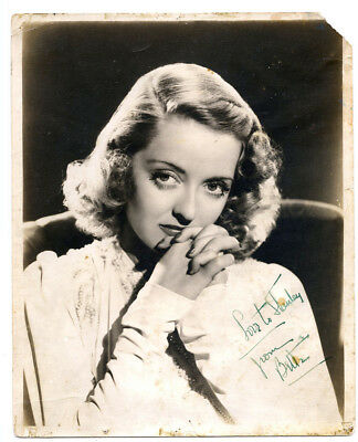 BETTE DAVIS RARE ORIGINAL VINTAGE 1930s SIGNED PHOTOGRAPH AUTOGRAPH TO BOYFRIEND