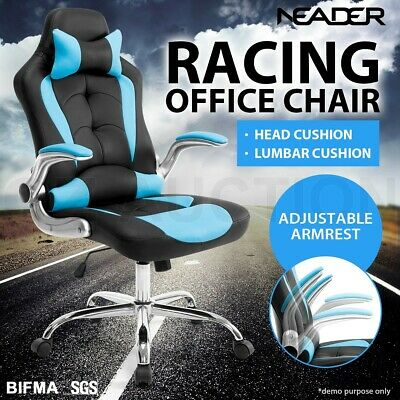 Executive High Back Gaming Office Computer Racing Chair w/ Removable Headrest