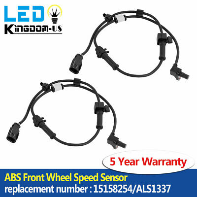 2 PCS ABS Front L& R Wheel Speed Sensor Replaces 15158254/ALS1337