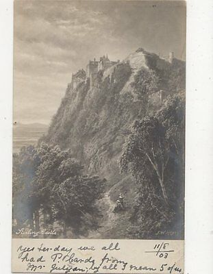 Stirling Castle by FW Hayes 1903 Tuck Postcard 106a