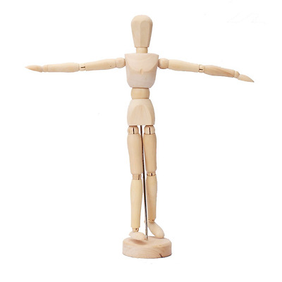 "Artist Wooden Mannikin Mannequin 12"" 16"" Sketching Lay Art Figure Drawing Model"