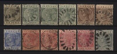 Barbados Collection 12 QV Values Used