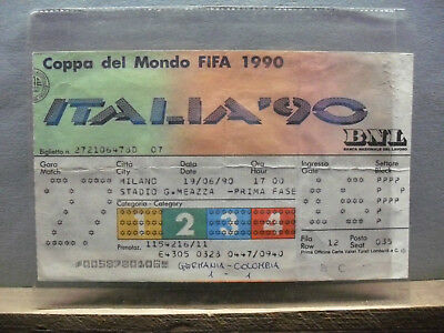 19/06/1990 coppa del mondo ITALIA 90 GERMANIA-COLOMBIA stadio meazza milano