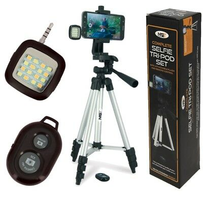 NGT Fishing Selfie Tripod for Phone Remote Control Night Light Carp Pod Stand