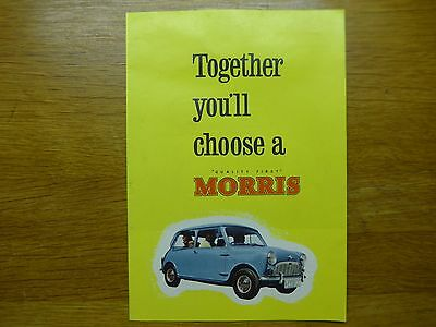 MORRIS WOLSELEY RILEY MG Car Sales Brochure Oct. 1959