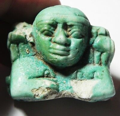 Zurqieh -Asw314-  Ancient Egypt, Faience Fragment Of A Large Amulet. 600 B.c