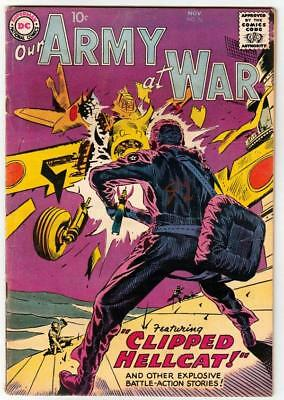Our Army at War # 76 strict FN/VF artist Joe Kubert