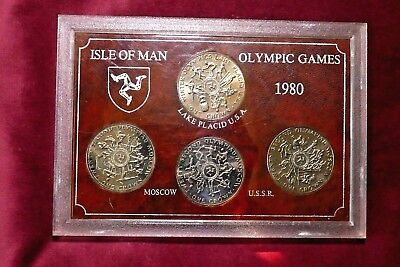 Isle Of Man, Olympic Games Uncirculated Mint 4 Crown Cased Set, 1980
