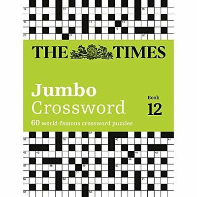 The Times 2 Jumbo Crossword Book 12 - Paperback NEW Games, The Time 04/05/2017