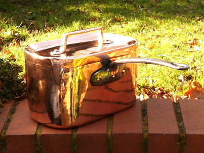 EARLY 19th CENTURY COPPER ANTIQUE DAUBIERE STYLE CRAB or CASSEROLE PAN