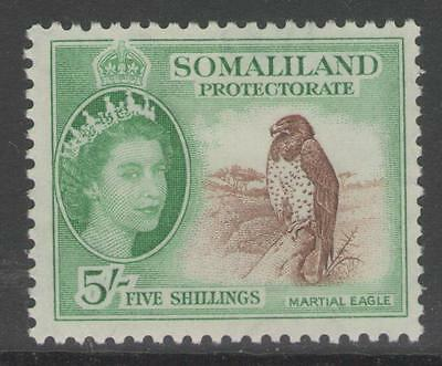 Somaliland Sg147 1953 5/= Red-Brown & Emerald Mtd Mint
