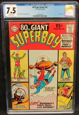 80 Page Giant #10 (1965) Superboy CGC 7.5 Off-White Pages CV497