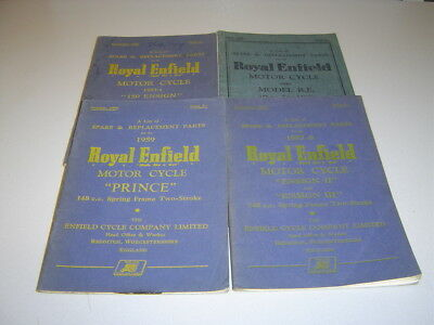 Royal Enfield Prince, Ensign, R.e. Two-Stroke Spare Parts List Job-Lot 1950-1959