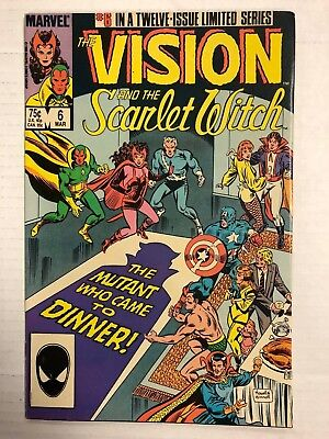 The Vision and the Scarlet Witch #6 Comic Book Marvel 1986