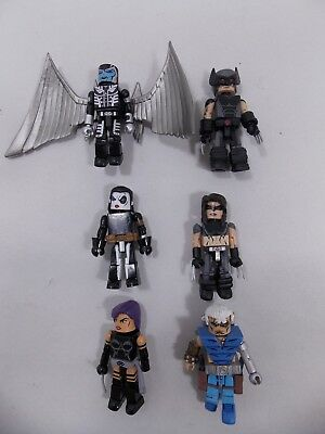 Marvel Comics Uncanny X-Force Minimates Lot Archangel Wolverine Psylocke Cable