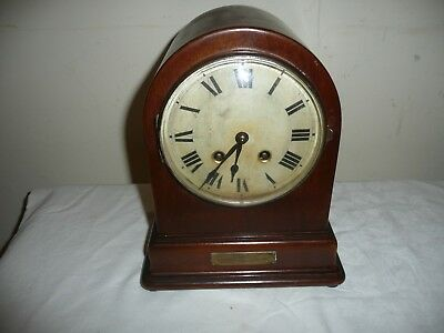 HAC Dome Top Mantle Clock in Nice Original Condition and Working, Dated 1925.