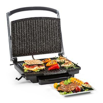 Multi-grill contact multifonction presse paninis toasteur 2000W 240 °C inox noir