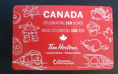 Tim Hortons 2017 CANADA Celebrating 150 Years LIMITED EDITIONFd56632 Gift Card