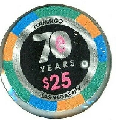 Flamingo Casino (Las Vegas) ($25) Chip (New) (70 Years) (D2590) (Tcr 18 Rated H)