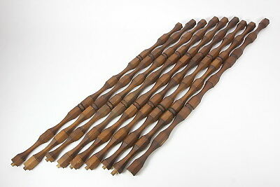 Wood Hex Spindles Balusters 27 Threaded Sections Pine Stained Walnut Sears
