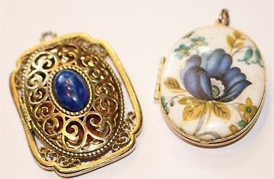Vintage in Seattle Auction Lot#4 lot of two gold tone locket pendants