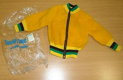 VINTAGE 1970's UNWORN ROMP & REST YELLOW POODLE FLEECE BOMBER JACKET AGE 3 YEARS