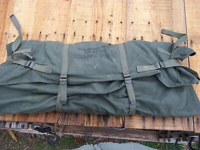 Military Surplus Leg Splint Traction Set Emergency Us Army Medic Jeep Canvas Bag