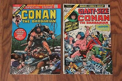 Marvel Conan The Barbarian King Giant Size Comic Lot of 2 Bronze Age Comics