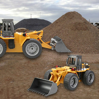 2.4G 6-Channels 1:18 RC Truck Bulldozer Car Remote Control Toys Kid Gifts HuiNa