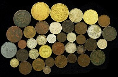 Lot of Nearly 40 Scandinavian Coins 1600s-1900s Norway/Sweden & More -ASW .33 oz
