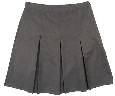 Girls Grey School Skirts Zip Up Adjustable Waist Exstore 8-16yrs