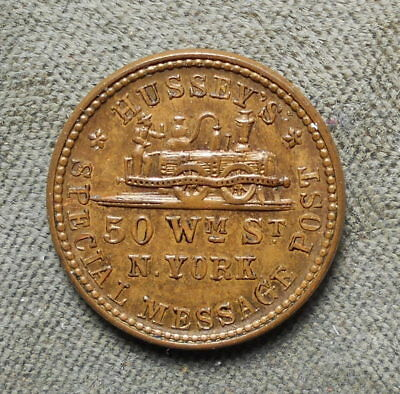 New York NY 630AK-2a Hussey's Special Message Post Rarity-3 Steam Engine 1863