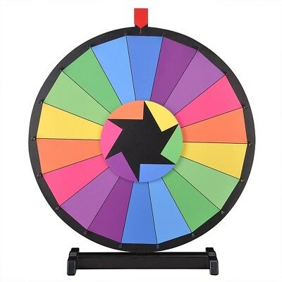 """WinSpin® 24"""" Tabletop Color Prize Wheel of Fortune 18 Slot Spin Game Tradeshow"""