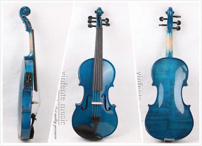 4/4 5 string electric Violin Acoustic Brown Maple spruce wood  Case bow #1568