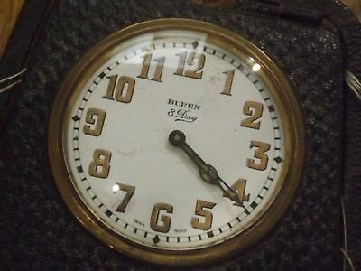 Superb Antique Buren 8 Day Travel Clock