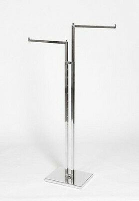 Fashion Store Shop Clothes Rail Display Stand 2 Way Straight Clearance Rack
