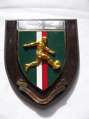 Singapore Football Association official  Wall Panel Badge Order 1972  Rare