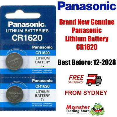 2pcs CR1620 3V LITHIUM BUTTON COIN BATTERY BRAND NEW GENUINE EXPIRES: 12/2028