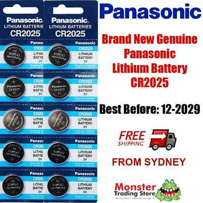 10pc CR2025 3V LITHIUM BUTTON COIN BATTERY BRAND NEW GENUINE EXPIRES: 12/2028