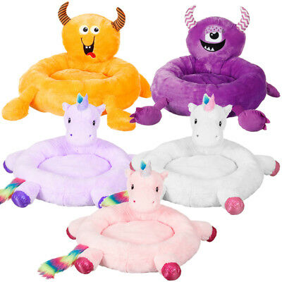 Novelty Supersoft Furry Pet Dog Cat Bed Cushion Pillow Pink Unicorn Monster