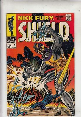 Nick Fury Agent of S.H.I.E.L.D. # 2 strict VF+ artist Jim Steranko