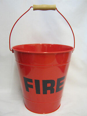 New Victor Firebucket Fire Bucket Metal Red Painted TA260R