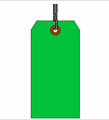 Shipping Tag, Hvy. Wt., Dark Green Sz #5, Box of 1000, Wired