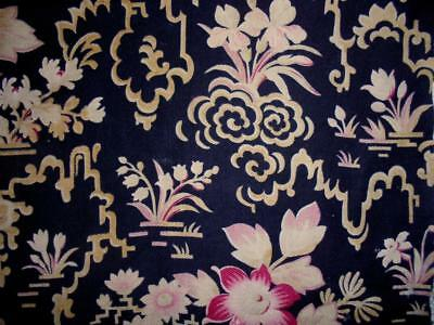 BEAUTIFUL TIMEWORN 19th CENTURY FRENCH CRETONNE CHINOISERIE DESIGN, REF PROJECTS