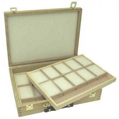 Loxley Epworth Pastel Box Two Trays Wooden storage Box