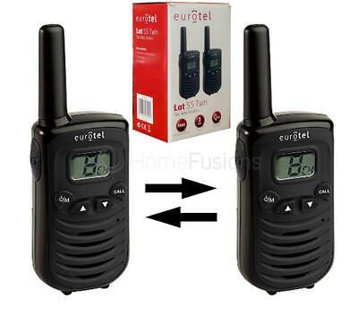 Pair Of Two Way Walkie Talkie Radios Latitude 55 Twin With 8 Channels 2 Mile Ran